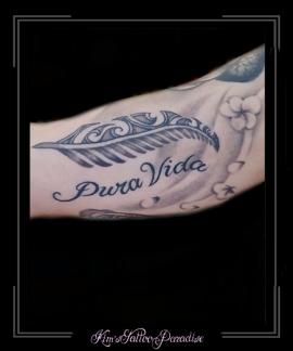 veer mandala tekst bovenarm