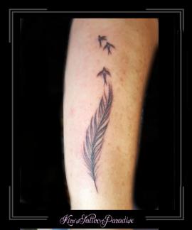 veer vogels onderarm