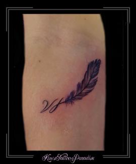 veer,veren,initialen,onderarm