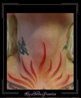 vlammen hals