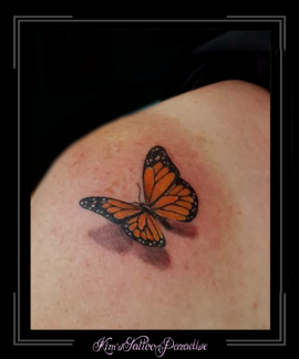 vlinder 3d schouder
