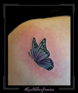 vlinder schouder
