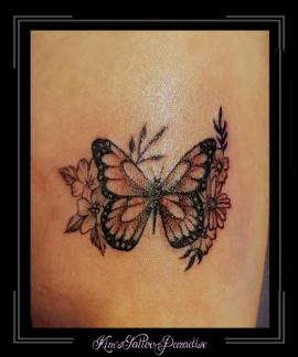 vlinder,bloemen,bloesem,onderarm,