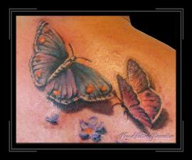 vlinders op rug