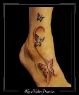 vlinders voet