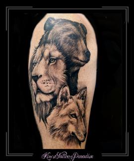 wolfleeuwbeerbovenarmportret