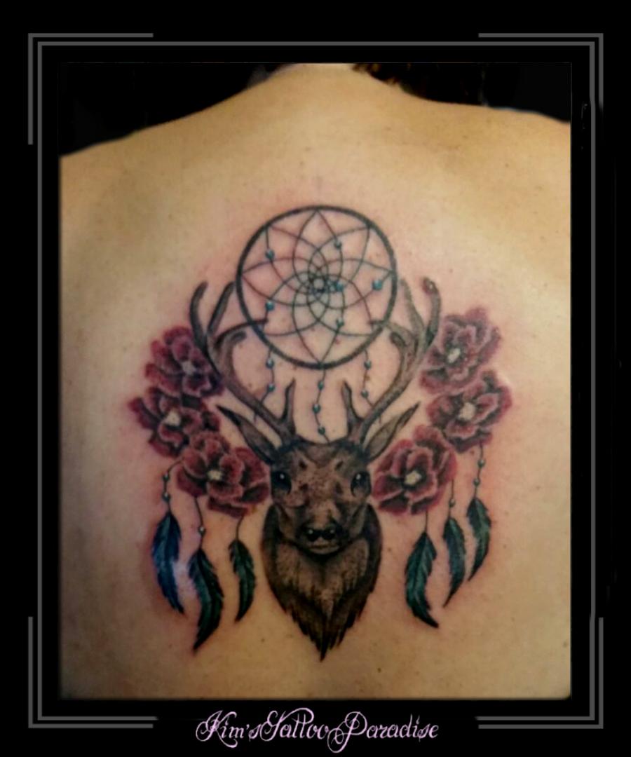 Tattoo dreamcatcher dromenvanger onderarm veer - Veren Kim S Tattoo Paradise