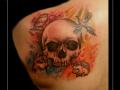 4 seizoenen,skull,doodskop,fazant,vogel,wolf,hond,egel,watercolor,schouder,