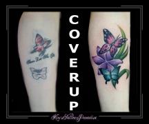 coverup van gepruts naar tattoo