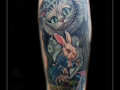 alice in wonderland cheshire cat pusey white rabbit wit konijn1