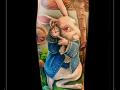 alice in wonderland walt disney konijn klok wekker paddestoel onderarm