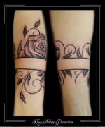 armband roos rozen blad onderarm