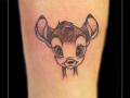 bambi hert dier disney enkel  tekening schets walt disney