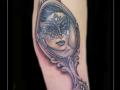 barokspiegel vrouw victoriaans masker spiegel bovenarm