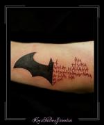 batman logo bovenarm