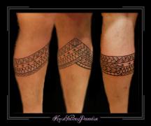 beenband maorie polinesisch onderbeen