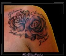 bloemen en rozen schouder