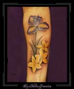 bloemen iris jasmijn onderarm
