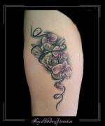 bloemen met lint bovenbeen