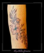 bloemen,blad,bladeren,onderarm,