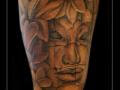 boeddha buddha  bloemen bovenarm