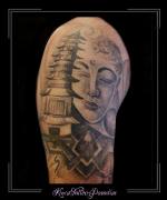 boeddha buddha tempel bovenarm