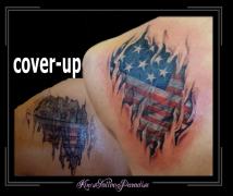 coverup amerikaanse vlag