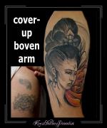 coverup bovenarm geisha japanse vrouw