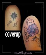 coverup letters bloemen arm