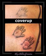 coverup,handjes,handen,rug,