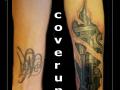 coverup,mechanical,gescheurde huid, zuigers,motor,onderarm,