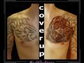 coverup,tribal,tijger,roofdier,borst,
