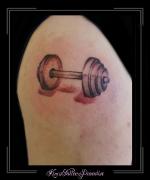 dumbell gewicht bovenarm
