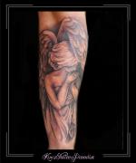 engel vleugels onderarm