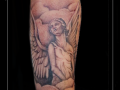 engel vleugels wolken onderarm