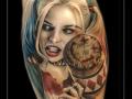 harley quinn suicide squad vrouw portret hamer kuit meisje