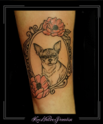 hond portret lijst barok onderarm schets tekening