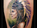 indiaanse vrouw portret bovenbeen