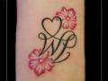 initialen,bloemen,onderarm,