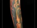 kaars vlammen onderarm
