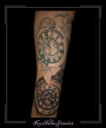 klok klokken kompas bloemen namen onderarm