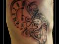 klok,duif,initialen,vogel,zij,dots,