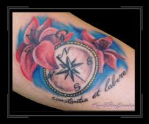 kompas en bloem