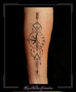 kompas klok pijlen letter driehoek onderarm