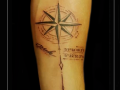 kompas pijl naam namen onderarm - kopie