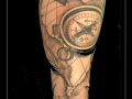 kompas,landkaart,globe,aardbol,initialen,onderarm,