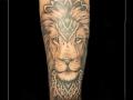 leeuw roofdier mandala onderarm