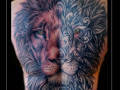 leeuw,mandala,rug,