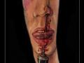 lippen mond injectienaald neus