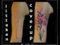 litteken coverup watercolor bovenarm